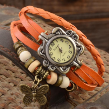 jam tangan wanita bracelet jam  leather band butterfly fashion retro jam