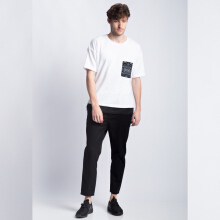 ANTHM-Circuits Pocket Oversized T-Shirt-White