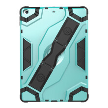 RockWolf iPad 5/ipad Air case TPU silicone back clip bracket anti-wrestling shield flat set