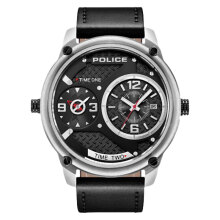 Police Sport Multi-function PL.15268JS/02 Chronograph Men Black Dial Black Leather Watch [PL.15268JS/02]