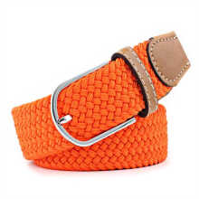 SiYing personality Women's canvas belt  stretch knitting pin buckle belt
