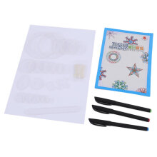 [OUTAD] Spirograph Deluxe Set Design Tin Set Draw Spiral Designs Interlocking Toys White Black