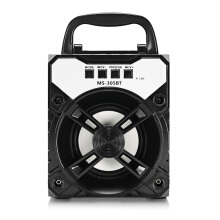 MS - 305BT Bluetooth Portable Speaker with LED Lights 3 inch Driver Unit  Black
