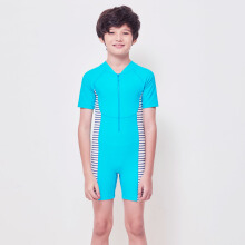 LEE VIERRA Family Swimwear - Turquoise Diving Baju Renang Teens Unisex