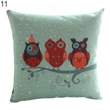 Farfi Owl Pattern Pillow Case Bed Sofa Throw Cushion Cover Pillowcase Home Decor