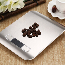 Famirosa  5000g / 1g Backlight Digital LCD Electronic Scale —Silver