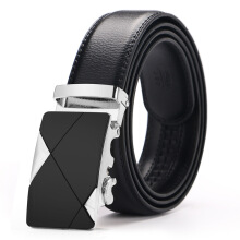 Vojoyce-Ikat Pinggang Pria-Automatic Buckle Men Strap Luxury Genuine Leather Belts