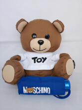 Moschino Toy Bear with UV Protection Umbrella in Blue