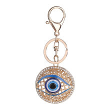 Round Blue Eyes Metal Charming Keychain Bag Car Key Ring Charm Pendant Gift blue