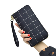Jantens Plaid ladies wallet handbag large capacity wallet