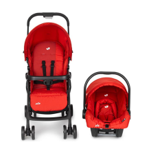 JOIE Juva Travel System Stroller - Poppy Red