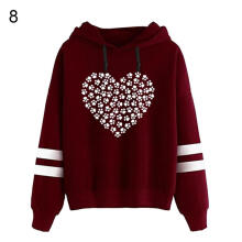 Farfi Fashion Love Heart Hooded Long Sleeve Hoodie Women Autumn Winter Top Pullover