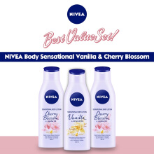NIVEA Body Sensational Vanila & Cherry Blossom 200ml - Best Value Set