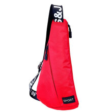 COZIME Youth Leisure Chest Pack Multifunctional Triangle-shaped Oxford Messenger Bag Red