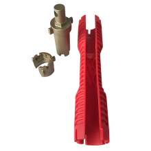 AOSEN Multi-function Faucet Wrench Pipe Spanner Lava Red