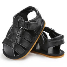 Farfi Baby Boys Prewalker Shoes Anti-Skid Solid Color Toddler Sandals