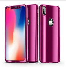 2018 New Product KINBOM 360° Plating Mirror Case For iPhone X Harga Cover Full Protection Cases Hot