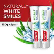 COLGATE Naturals Real White 120gr Twin Pack