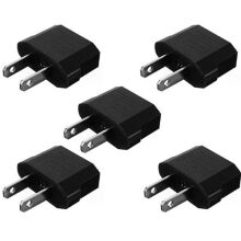 Blitzwolf 5pcs European EU to US USA Travel Power Charger Adapter Plug Outlet Converter   -  -