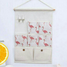 RADYSA Pouch Gantung 7 Sekat - Flamingo Putih White Others