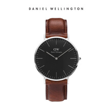 Daniel Wellington Classic Black Leather Watch St Mawes Black 40mm
