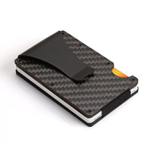 Jantens Men Women Credit Card Holder Black