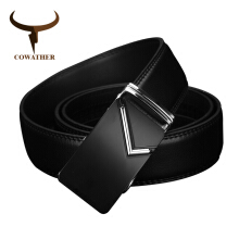 COWATHER luxury men belts for men automatic buckle top high quality durable Natural grain leath
