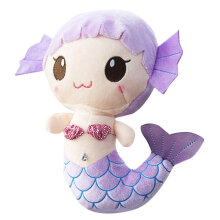 [COZIME] Plush Toys Gift For Baby Kids Girls Children Cute Lovely Mermaid Stuffed Doll Purple