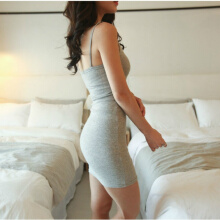 Women Dress Evening Club Party Summer Dress Close-fitting Slim skinny Waist Dress Female