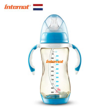 Keness Wide-caliber PPSU temperature-sensitive baby bottle 300ML fall-proof anti-flatulence factory wholesale