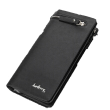 Fashionmall Men's Long Wallet Pockets Money Purse ID Credit Card Clutch Bifold Black/Coffee