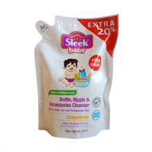 [free ongkir]Sleek Bottle Nipple and Baby Accessories Cleanser Concentrate Refill 450ml - EKSTRA 20% (450ml + 90ml)