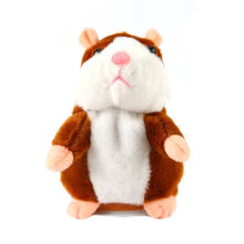 [COZIME] Funny Walking Talking Speaking Nodding Hamster Plush Toy Animal Kids Toy Light Brown1  18cm