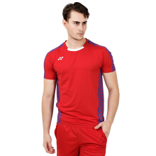 YONEX Viktor Axelsen Crew Neck Shirt Badminton Tournament - Sunset Red