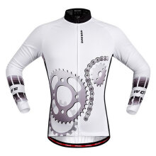 BC282 Bike Riding Suit Casual Light and breathable Long-sleeved Top white BC282 M