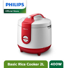 PHILIPS Rice Cooker 2 L HD3119/32 - Basic Red