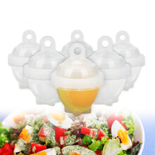 7Pcs / Set Hard Boil Egg Cooker 6 Boilor Without Shells With Bonus Egg White Separator Eggs Boiler