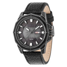 Police PL.15327JSQB/78 Men Black Dial Black Leather Watch [PL.15327JSQB/78]
