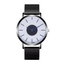 ZLF-K088-3 men's simple blue needle quartz watch gun color Gun Color