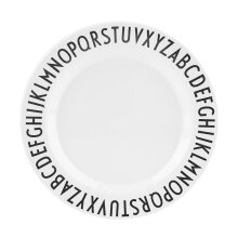 [COZIME] Baby Children Milk Cup Letters Safety Baby Feeding Dinner Plates Black And White1