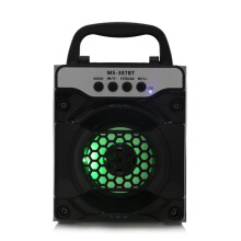 AOSEN MS - 307BT Portable Bluetooth Speaker with LED Lights 3 inch Driver Unit Black