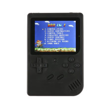 [OUTAD] S6 Portable Retro Mini Handheld Gaming Console Built-in 300 Games Black