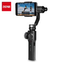 Smooth 4 3-axis Handheld Gimbal Stabilizer for iPhone / Samsung Galaxy Black