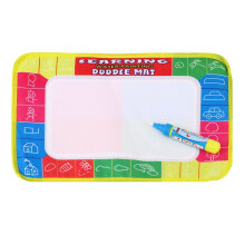 [TOWER PRO] Kids Write Draw Paint Water Canvas Magic Doodle Mat With Pen Brushes 29*19cm multicolor
