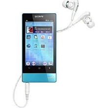 SONY Walkman F800 series mp3 nw-f805 /L blue 16GB