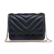 PHJANE V-shaped Quilted Chain Bag Small Sheepskin Leather Women's Fashion Shoulder Messenger Crossbody Handbag