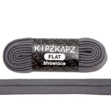 KIPZKAPZ FS71 Flat Shoelace - Armor Grey [9mm]