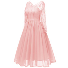 Xi Diao Elegant Women Tulle Chiffon Dress