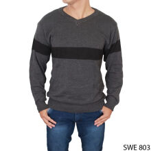 Gudang Fashion Men'S Cardigan Sweater Rajut - Abu / SWE 803+A