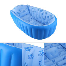 [OUTAD] Inflatable Square Thickening Bath Tub Children Swimming Pool Blue